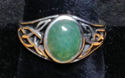 Celtic Motif Ring with Aventurine Stone (thumbnail)