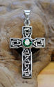 Celtic Cross w/ Imitation Emerald (thumbnail)