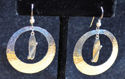 Sterling Silver Paddleboard/Disc Earrings (thumbnail)