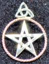 Sterling & Copper Pentagram Pendant (thumbnail)