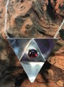 Garnet Triangle Pendant (thumbnail)