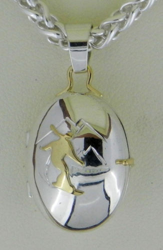 Snowboarder Locket (large view)