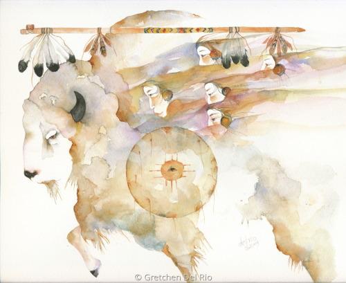 Sacred Buffalo by Gretchen Del Rio