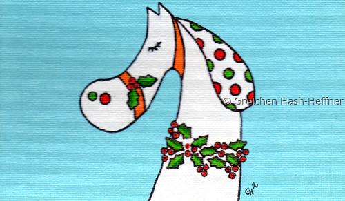 """""""Happy Holidays"""" notecard"""