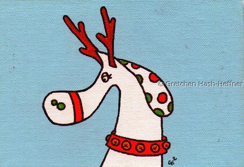 """Rudolph"" notecard"