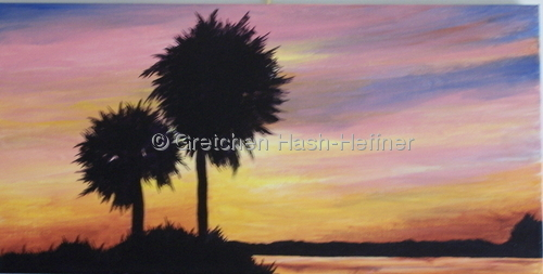 Blazing Sunset - Pawley's Island