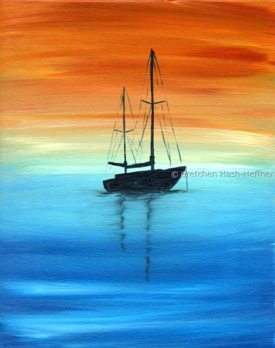 Sailing Silhouette