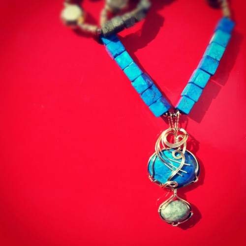 Blue Sone Necklace by GINA REYNOLDS