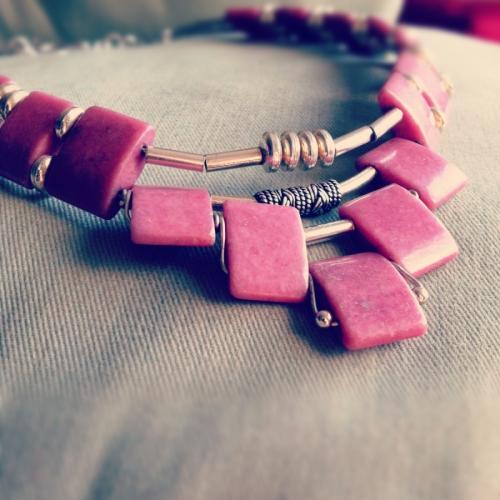 Pink Stone by GINA REYNOLDS