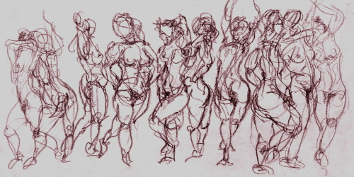 gesture study done from a figure drawing class (large view)