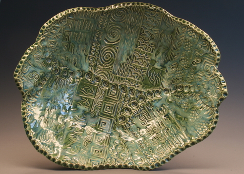 Multi Texture Green Bowl