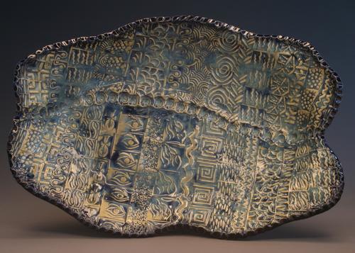Multi Texture Blue Platter