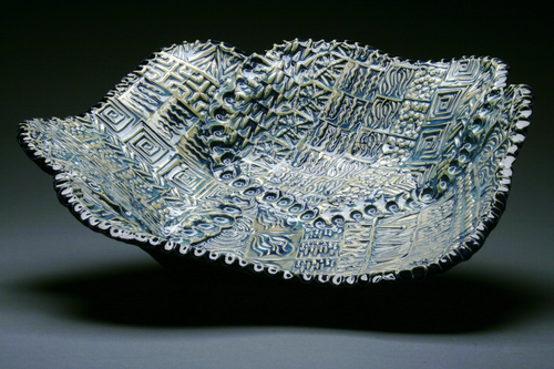 Multi Texture Blue Bowl