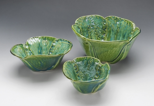 Green 'Tulip' bowl collection