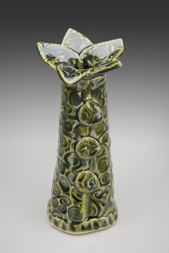 Leaf Collar Bud Vase