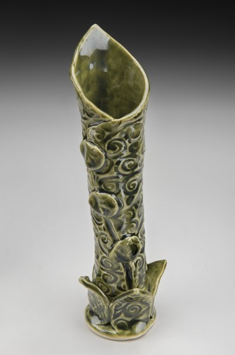 Bud Vase with Leaf Base