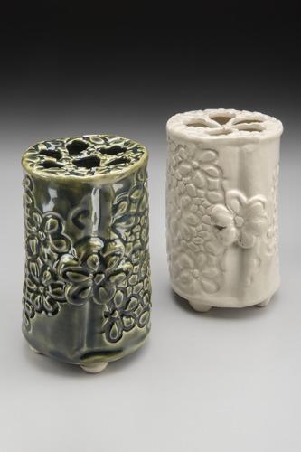 Floral Brick Vases