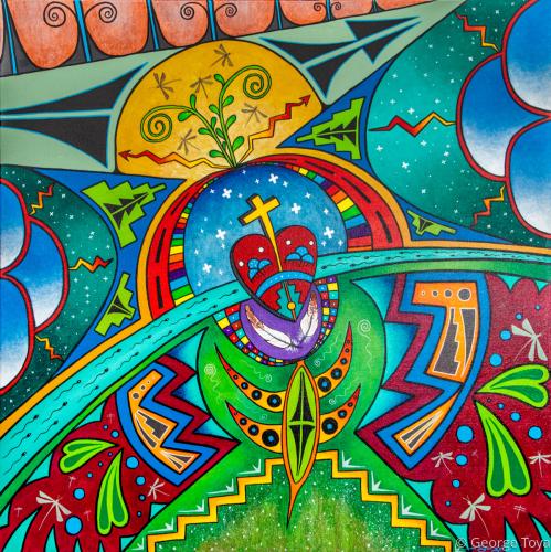 Creation by George Toya - Jemez Pueblo Artist