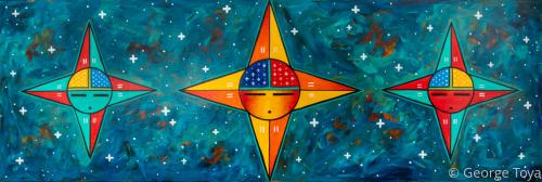 Three Stars - Orion's Belt by George Toya - Jemez Pueblo Artist