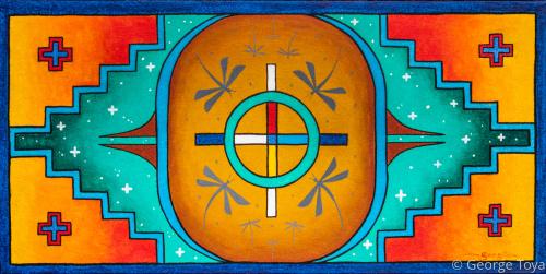 Directions by George Toya - Jemez Pueblo Artist
