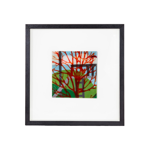 Framed Fused glass Panel #5 by Grace Turner