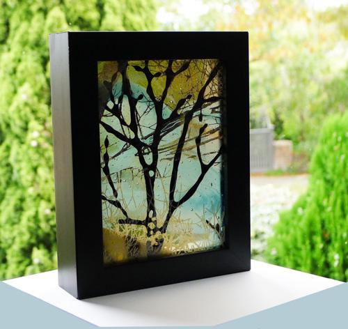 Free standing Framed Glass Panel