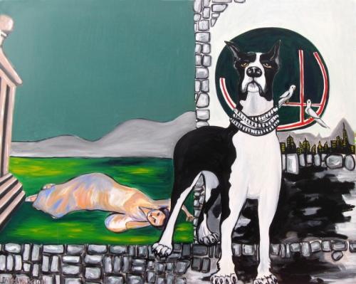 Self Portrait as a Dog by Gwendolyn Lewis Huddleston