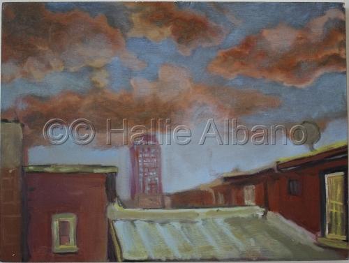 Philadelphia Roof top by Hallie Albano