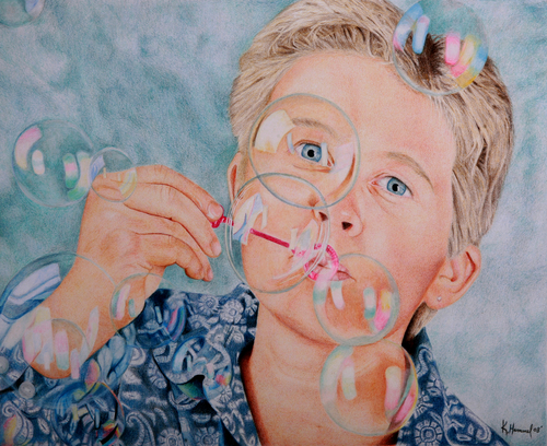 Artist Self Portrait by Kim Hammel