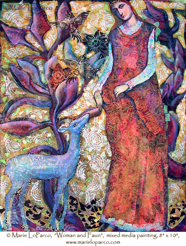 Woman With Fawn