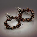 Small Wound Copper Earring (thumbnail)