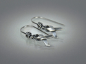 Hope Ribbon Earrings ~ Sterling Silver (thumbnail)