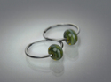 Glass Bead Hoop Earrings (thumbnail)