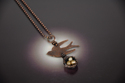 Etched Bird with Nest Necklace (thumbnail)