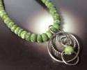 Green Vesuvianite Stone OOAK Necklace (thumbnail)