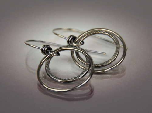 Stacked Double Hoop Earring