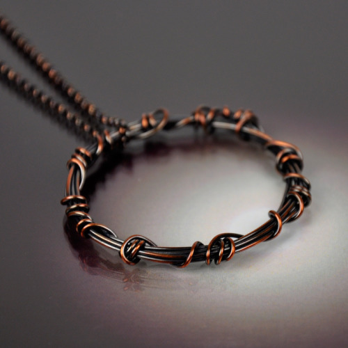 Wound Copper Necklace