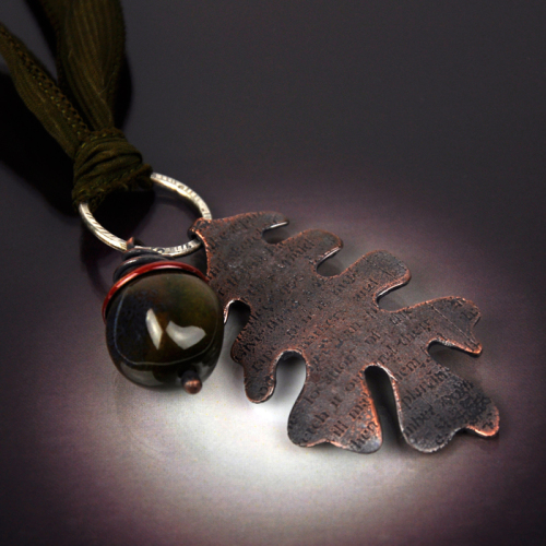 Oak Leaf & Acorn Necklace