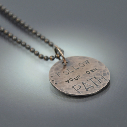 Follow Your Own Path Necklace