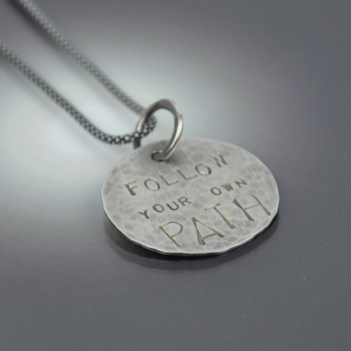 Follow Your Own Path Sterling Necklace