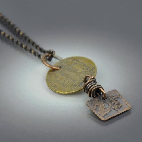 Ancient Relic Pendant Necklace