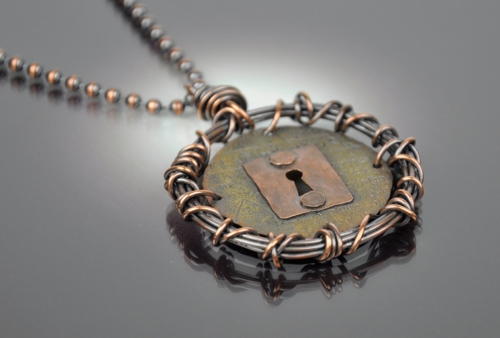 Coiled Keyhole Necklace