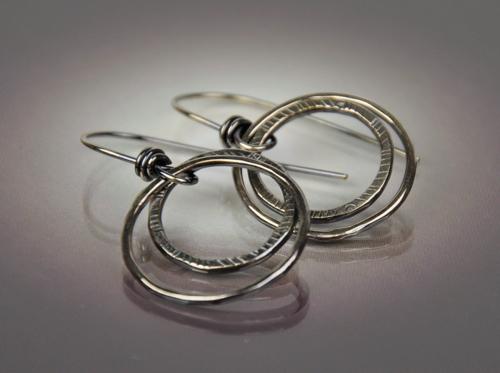 Stacked Double Hoop Earring
