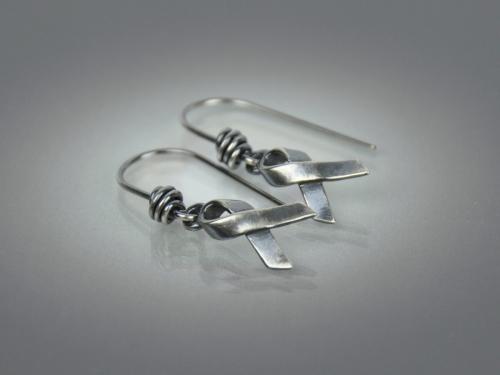 Hope Ribbon Earrings