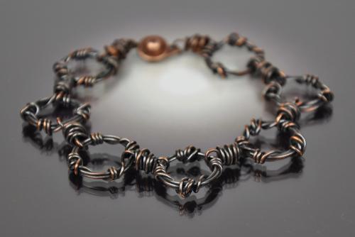 Multi Ring Copper Bracelet