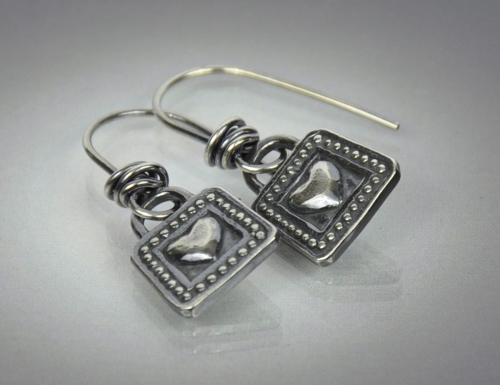 Heart and Dot Earrings
