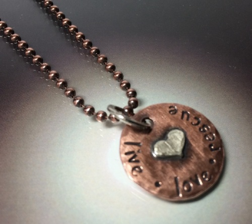 RESCUE Necklace on Copper