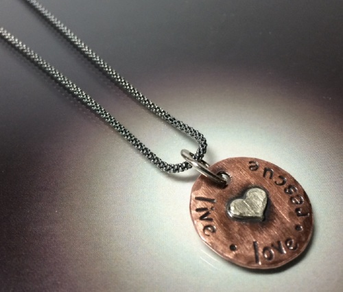 RESCUE Necklace on Sterling