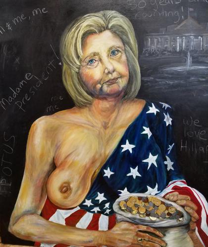 Hillary in the manner of Durer