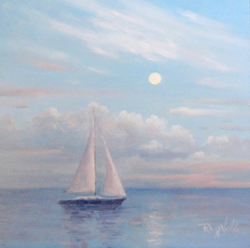 Sailing At Dawn's Full Moon